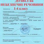 Разрешение на использование вредных, опасных веществ 1,2,3 классов.